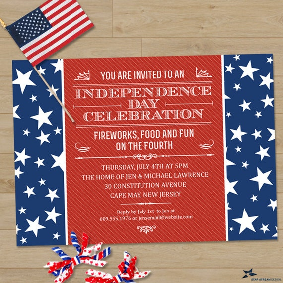 The red white and blue fourth of july party invitation printable il570xn stopboris Gallery