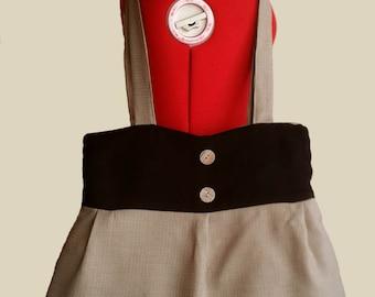 Beige/Black  fabric Bag