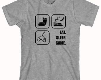 Eat Sleep Game shirt, gamer, nerd, geek - ID: 152