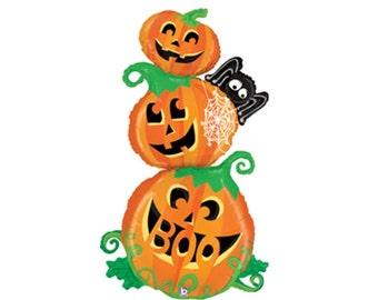 Pumpkin Balloon, Halloween Balloon, Halloween Party, Halloween Theme, Halloween Decor, Helium Balloon, Giant Balloon, Foil Balloon