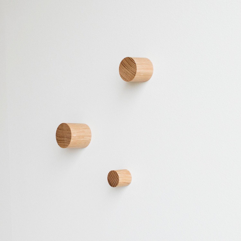 Hand Wall Hangers simple dowel wall hook locally sourced white oak wall hook