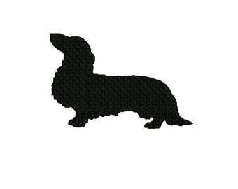 dog embroidery design , Dachshund silhouette 4 x4 and 5 x 7