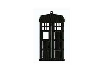 embroidery design ,Tardis Embroidery Design