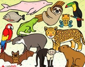 Rainforest Jungle Animal Clip Art