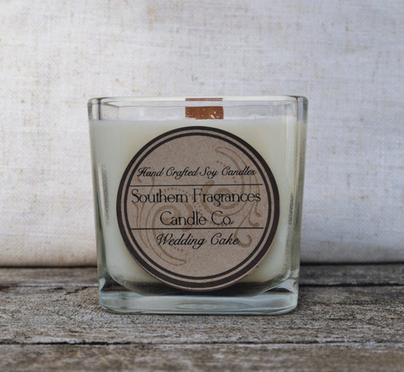 wedding cake scented candle wedding cake candle 12oz soy candle wood by southernfragrances 24031