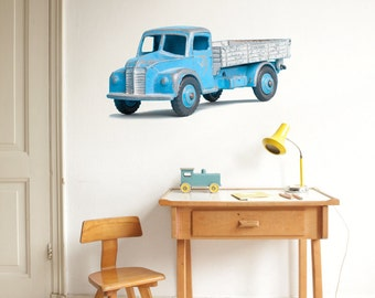 Wallsticker Toy Cars / Blue Pick up truck