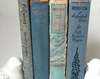 Girl's Set of Classic Novels: Pollyanna, Little Women, Heidi, Rebecca of Sunnybrook Farm