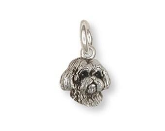 Shih Tzu Charm Handmade Silver Shih Tzu Jewelry SLSZ9H-C