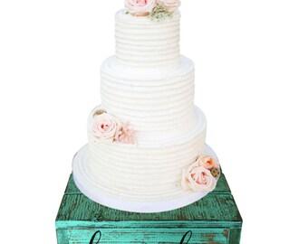 Red Wedding Country Rustic Wedding Solid Wood Cake Cupcake Stand Beach Wedding Cake Stand Candy Bar