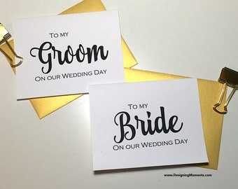 To My Bride and Groom Wedding Day Card - Bride and Groom - Wedding Day Card - Husband and Wife Cards - Wedding DM136