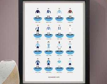 Coventry City Football Poster, Football Poster, Football Print, Gift