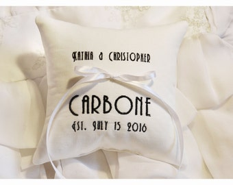 Ring bearer pillow , wedding pillow , wedding ring pillow, Personalized ring bearer pillow, personalized pillow, wedding gift  (R141)