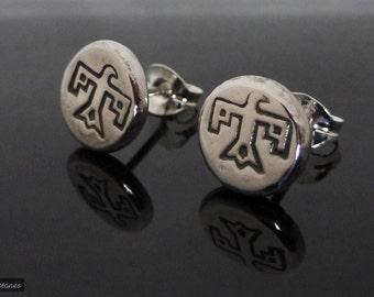 Sterling Silver Thunderbird Stud Earrings