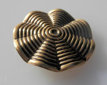 Unique!  Vintage Brass Button