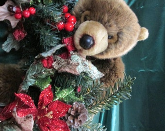 Christmas wreath bears