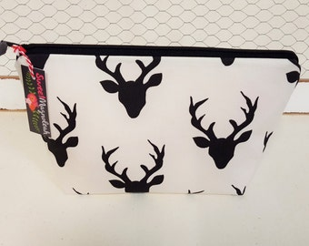 Makeup bag, Cosmetic bag, Travel pouch, Deer, Woodland