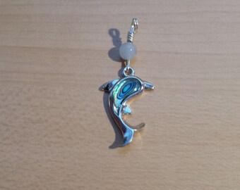 Dolphin shell pendant
