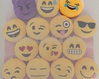 Emoji Plush [Tears of Joy] Keychain Cushion Accessory