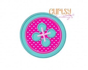 Button Embroidery Design, Button Applique Design