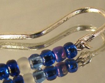 Dreams of the Blue Sea Beaded Metal Bookmark   (JB170)