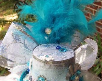 Frozen Charlotte Turquoise Lolita Steampunk mini hat