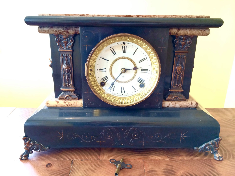 1898 Seth Thomas Adamantine Mantel Clock