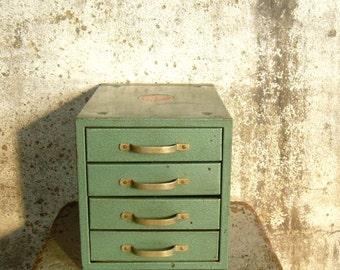 Vintage Metal Four Drawer Chest Storage Cabinet Wards Master Quality