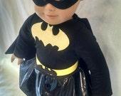 Batgirl, Bat Girl, Superhero Costume for American girl