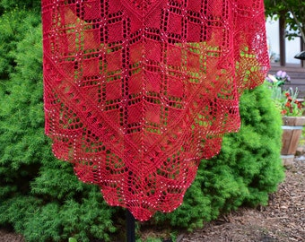 Renate's Shawl: Knit Shawl Pattern, pdf download