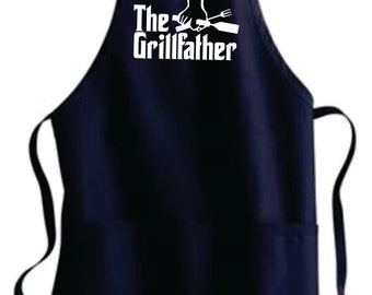 Mens Gift Father's Day Grilling Apron Gift Father's Day Grilling Gifts Father Gift Husband Gift Boyfriend Gift Personalized THE GRILLFATHER