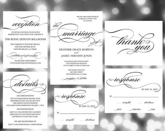 Printable Wedding Invitation Template , Wedding Invites, wedding invitation set, wedding invitation template, wedding invitation printable