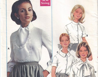 1960s Misses Blouse Pattern, Butterick 4946, Size 10