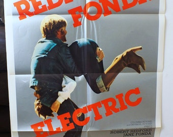 "Movie Poster  ""The Electric Horseman""   Original 1979 Movie Poster One-Sheet -  Robert Redford  and  Jane Fonda"