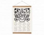 Items similar to wall calendar 2016 home decor cats a3 a3 size 100 recycled paper on etsy Home decor wall calendar