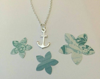 Sterling Silver Anchor Necklace | Beach Lover Gift | Nautical Jewelry | Gift For Her | Minimal Jewellery | Layering Necklace | Simple Style