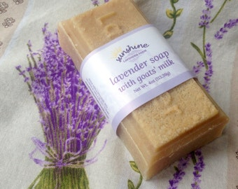 Lavender Bar Soap with Goats' Milk