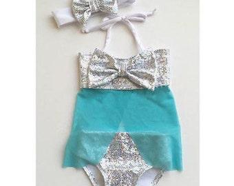 Elsa Inspired Swimsuit Set