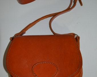 Vintage Hippie Hobo Handmade Leather Buckle Saddle Bag Purse Handbag Satchel Shoulder Bag