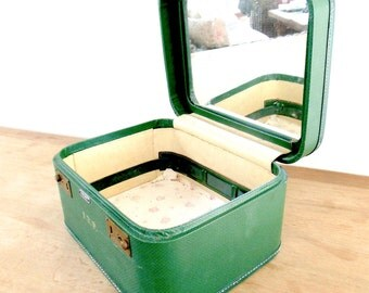 Train Case Mid Century Toiletry Case American Tourister Green