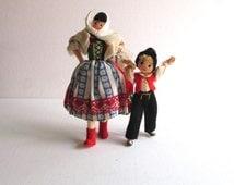 Vintage German BAPS Dolls Mother & Son Set