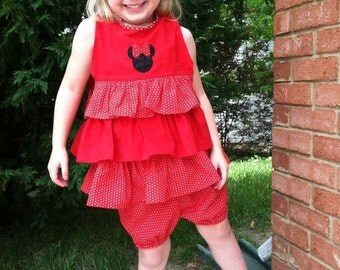 Minnie Mouse Ruffle Top with Matching Shorts
