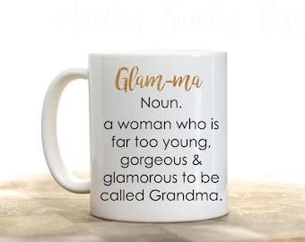 Glam-ma, Glamma, Grandma gift, mom gift, Nana gift