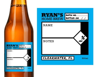 Home Brew - Custom Home Brew - Home Brew Supplies - Home Brew Labels - Custom Beer Labels - Waterproof labels - Personalized Beer Labels