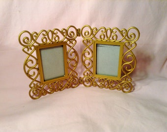 SALE ***2 Part Picture Frame with Golden Swirled Frame - Wedding, Anniversary, Valentines Day - Gift for Her***