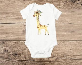 Giraffe Baby Clothes, Jungle Animal Baby Shower Gift