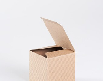 "Gift Box with lid - 4"" x 4"" x 4"" Kraft"
