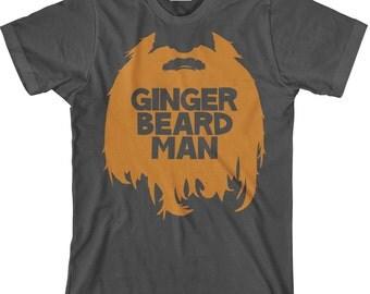 Funny Men's Beard T Shirt - Ginger Beard Man Tee for Bearded Men - Gingerbeard Man TShirt - Item 1403