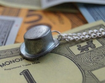 Top Hat Monopoly Necklace