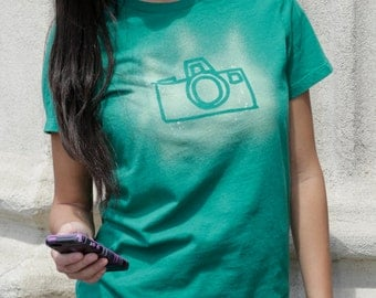 Women's Graphic Tee | Camera T-shirt | Photography | Shutterbug | Custom T-shirt | Fitted, Crew Neck, Short Sleeved T-shirt | Gift for Her