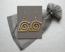 Naruto earrings – Hidden Leaf Village emblem – fandom cosplay prop – jewelry / jewellery